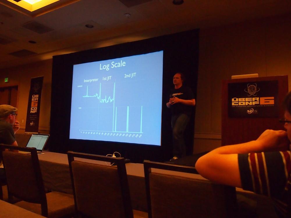Douglas gives his talk on JVM mechanics